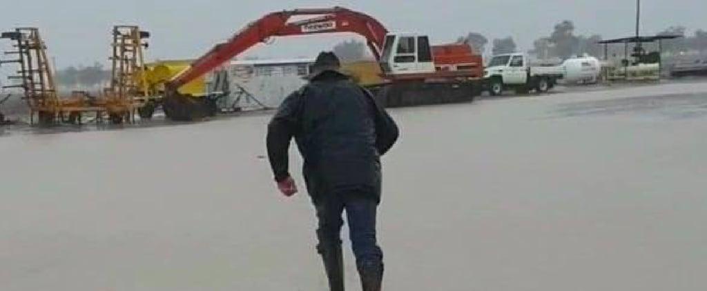 Videos of Australian Farmers Celebrating Rain in NSW Drought