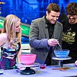 Justin Timberlake and Amanda Seyfried did silly tasks on El Hormiguero.