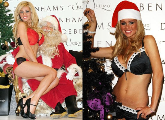 Photos of I'm A Celebrity's Nicola McLean in Lingerie at Christmas Photo Shoot