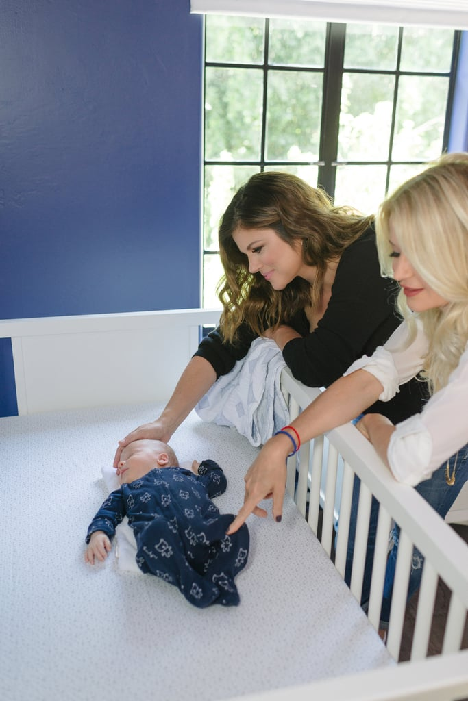 DwellStudio's Christiane Lemieux and Tiffani Thiessen settled baby Holt into his brand-new nursery.