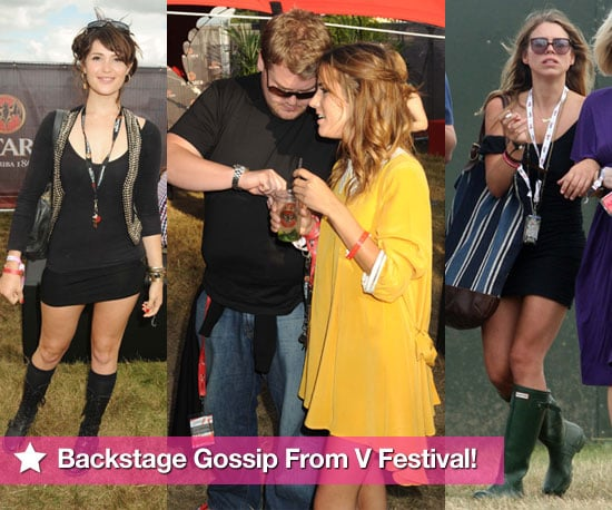 Photos and Backstage Gossip From V Festival 2009 Including Billie Piper, Gemma Arterton, James Corden and Caroline Flack
