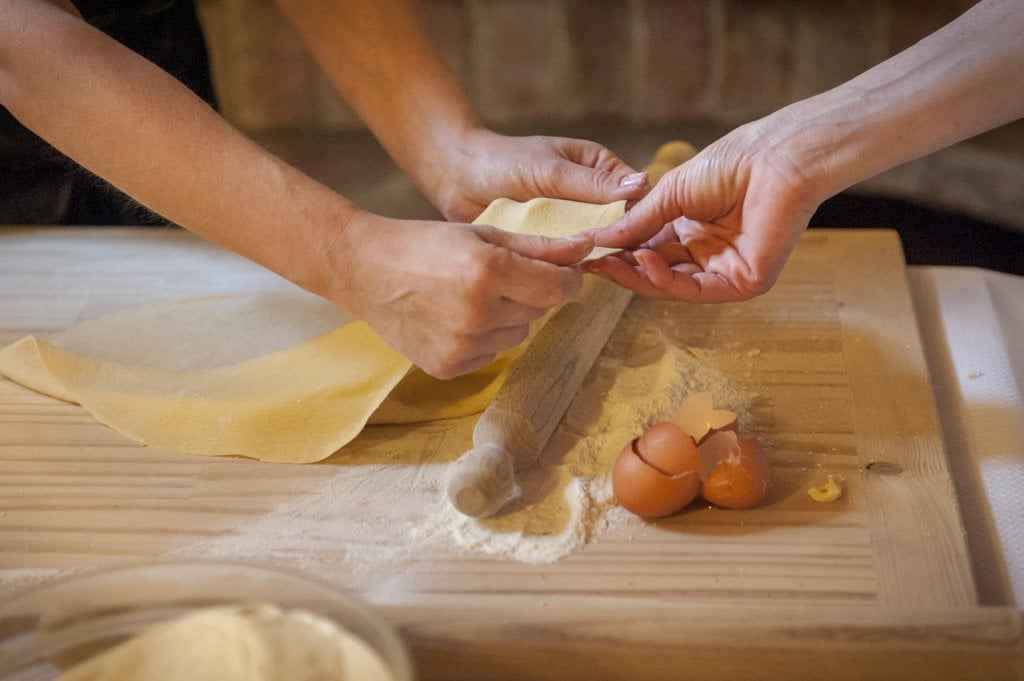 You can make pasta from scratch completely by hand, without a pasta maker.