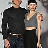 Daniel Craig wrapped his arm around Rooney Mara in Berlin.