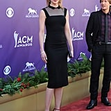 Nicole Kidman added a playful touch to her L'Wren Scott LBD with the designer's sexy red sandals.