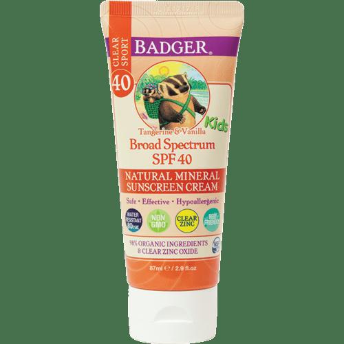Badger Clear Sport Sunscreen, SPF 40