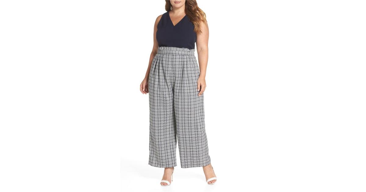 46925d2ed824 Chelsea28 Wide Leg Tweed Jumpsuit
