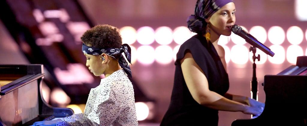 "Alicia Keys and Son Egypt ""Sweet Dreams"" Piano Duet | Video"