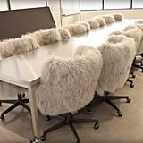 """The """"Creative Room"""" Has the Coziest Rolling Chairs"""