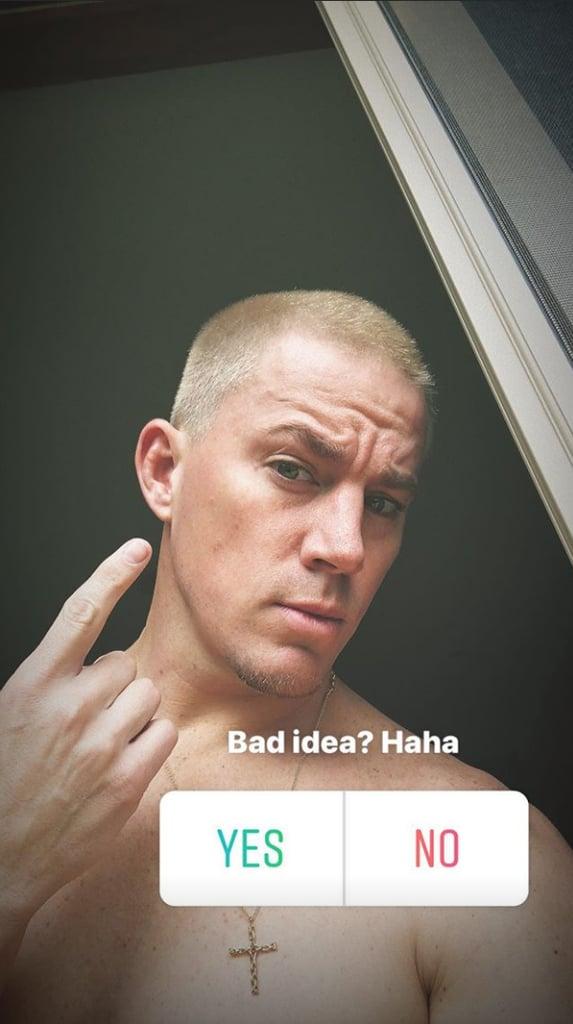 Channing Tatum's Bright Blond Hair