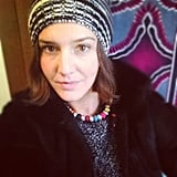 Margherita Missoni sported a chic knit beanie. Source: Instagram user mmmargherita