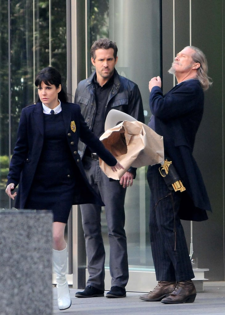 Ryan Reynolds, Mary-Louise Parker, and Jeff Bridges were on set in LA.