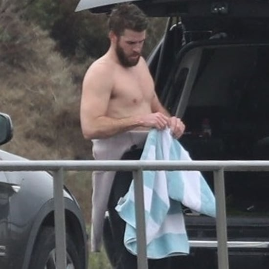 Liam Hemsworth Shirtless in Malibu Pictures March 2018