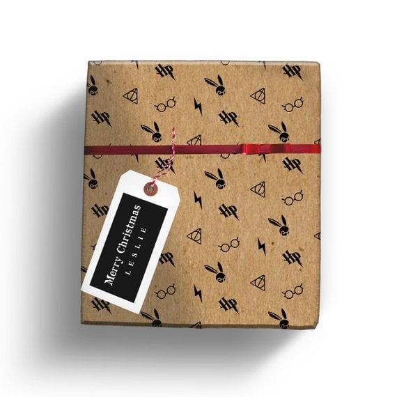 graphic relating to Hogwarts Printable known as Printable Hogwarts Wrapping Paper Harry Potter Wrapping