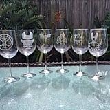 Superhero Wine Glasses