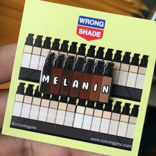 Coloring Pins Melanin Foundation Pin