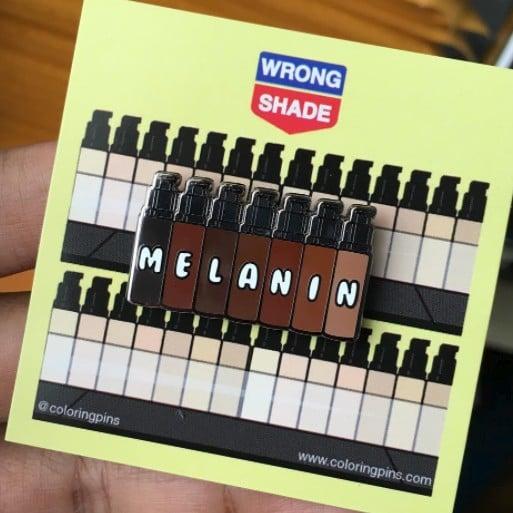 Coloring Pins Melanin Foundation Pin