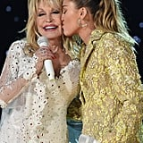 Pictured: Dolly Parton and Miley Cyrus