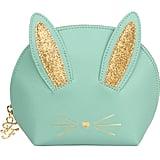 Too Faced Teal Cool Not Cruel Bunny Makeup Bag