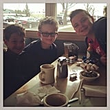 Evan Asher enjoyed Sunday brunch with some friends. Source: Instagram user jennyannmccarthy