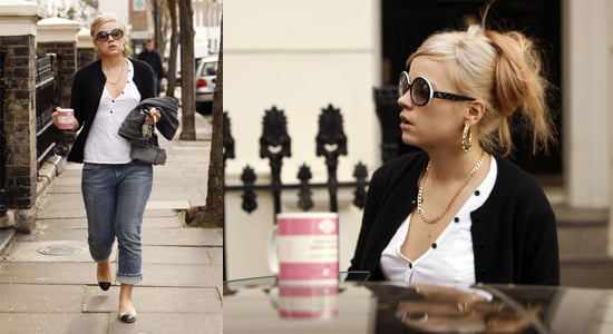 Lily Allen Holds Her Literary Mug Before Shopping in London