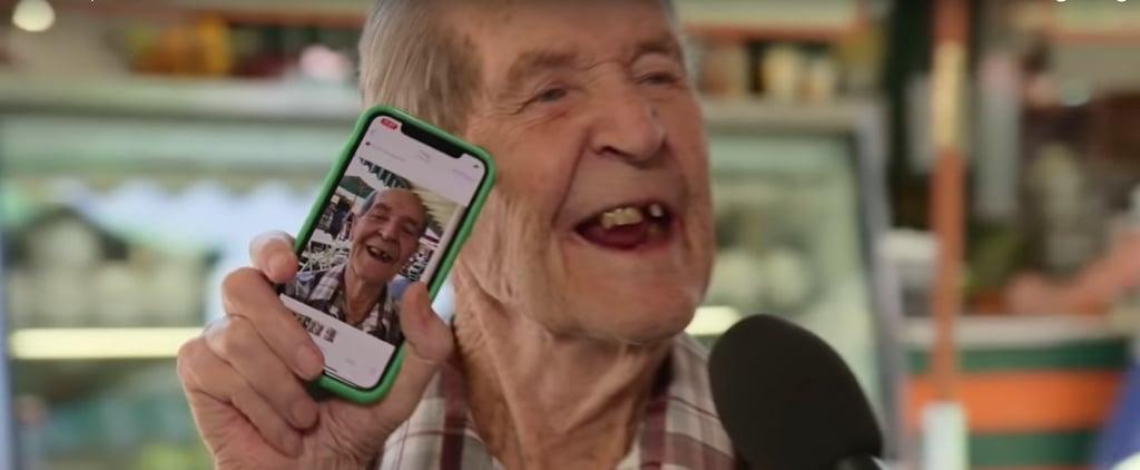 Jimmy Kimmel Asks Old People to Take Selfies Video
