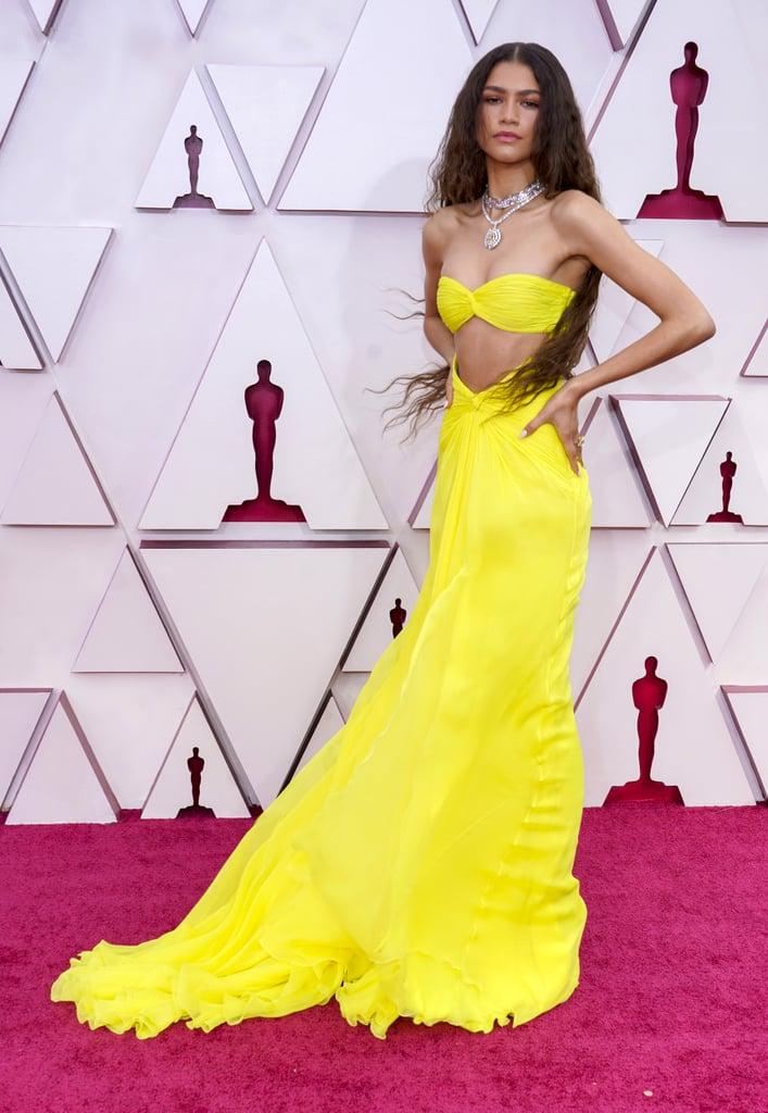 Zendaya's Custom Maison Valentino Dress at the 2021 Oscars