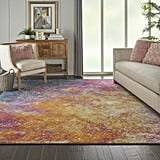 Viv + Rae Shortwood Pink/Yellow Area Rug
