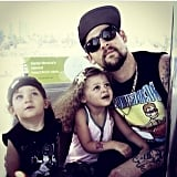 """#tbt in oz. Me and my kids on the Ferris wheel. They have grown up so much @nicolerichie we are proud."""
