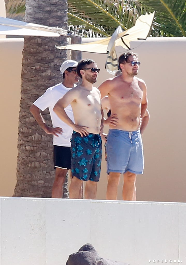 Following their guys' night out in St. Tropez, Leonardo DiCaprio and Tobey Maguire jetted off to Ibiza, Spain, for some fun in the sun. On Sunday, the actors were seen having lunch with a few friends before boarding a yacht, where they joined Leo's girlfriend, model Nina Agdal. While the couple steered clear of any PDA this time around, the Oscar winner made the most out of his time on the water, whipping off his shirt and jumping off the boat for a swim in the ocean while his BFF excitedly looked on. See more of their Summer getaway now, then if you just can't get enough of Leo, check out 12 of his most regular moments.