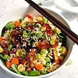 Sticky Chicken With Vegetable Fried Rice