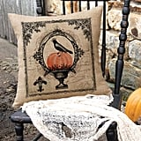 Heritage Lace Victorian Halloween Square Throw Pillow