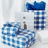 Vinter 2019 Check Pattern Blue Gift Bags