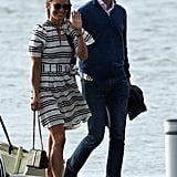 Pippa Middleton Wearing the Same Tie-Up Espadrille Wedges