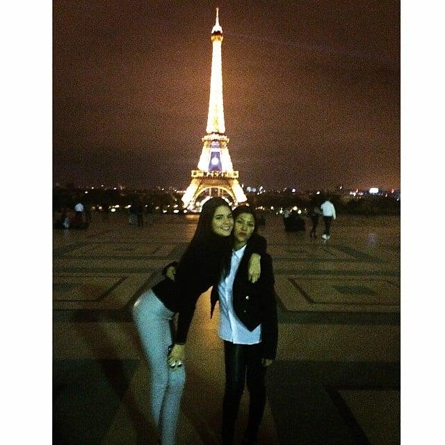 Kendall Jenner and Kourtney Kardashian continued their sightseeing after Kim and Kanye's wedding. Source: Instagram user kourtneykardash