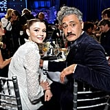 Thomasin Mckenzie and Taika Waititi at the 2020 Critics' Choice Awards