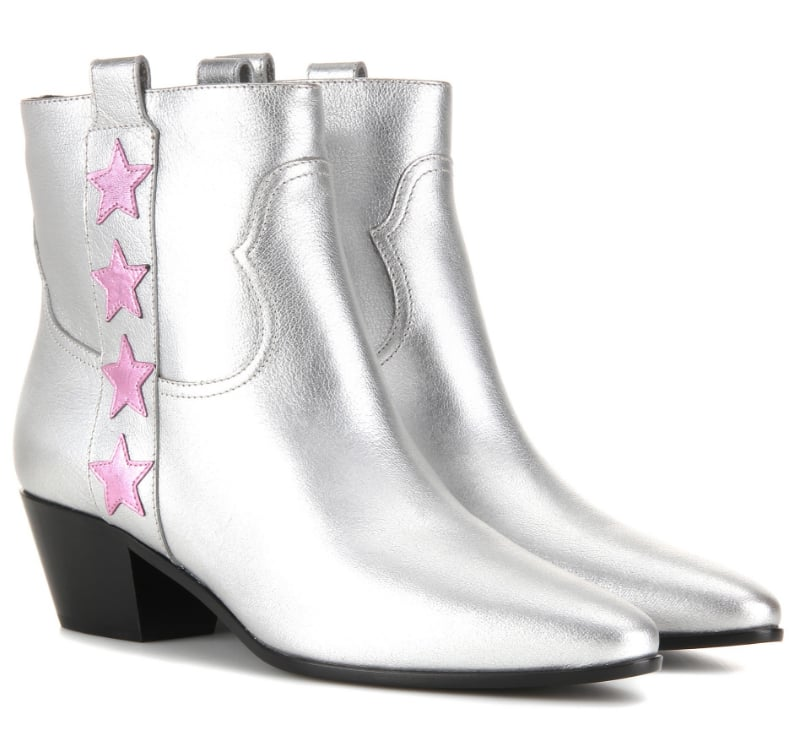 Saint Laurent Star Metallic Leather Boots (£685)