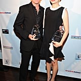 Michelle Williams posed with John Logan.