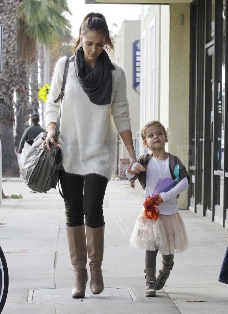 Jessica Alba and Honor out in LA.