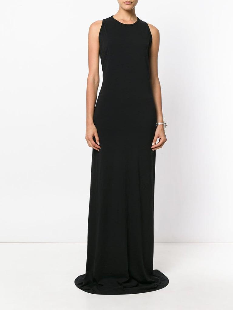 rick owens drkshdw sleeveless long dress jennifer aniston black