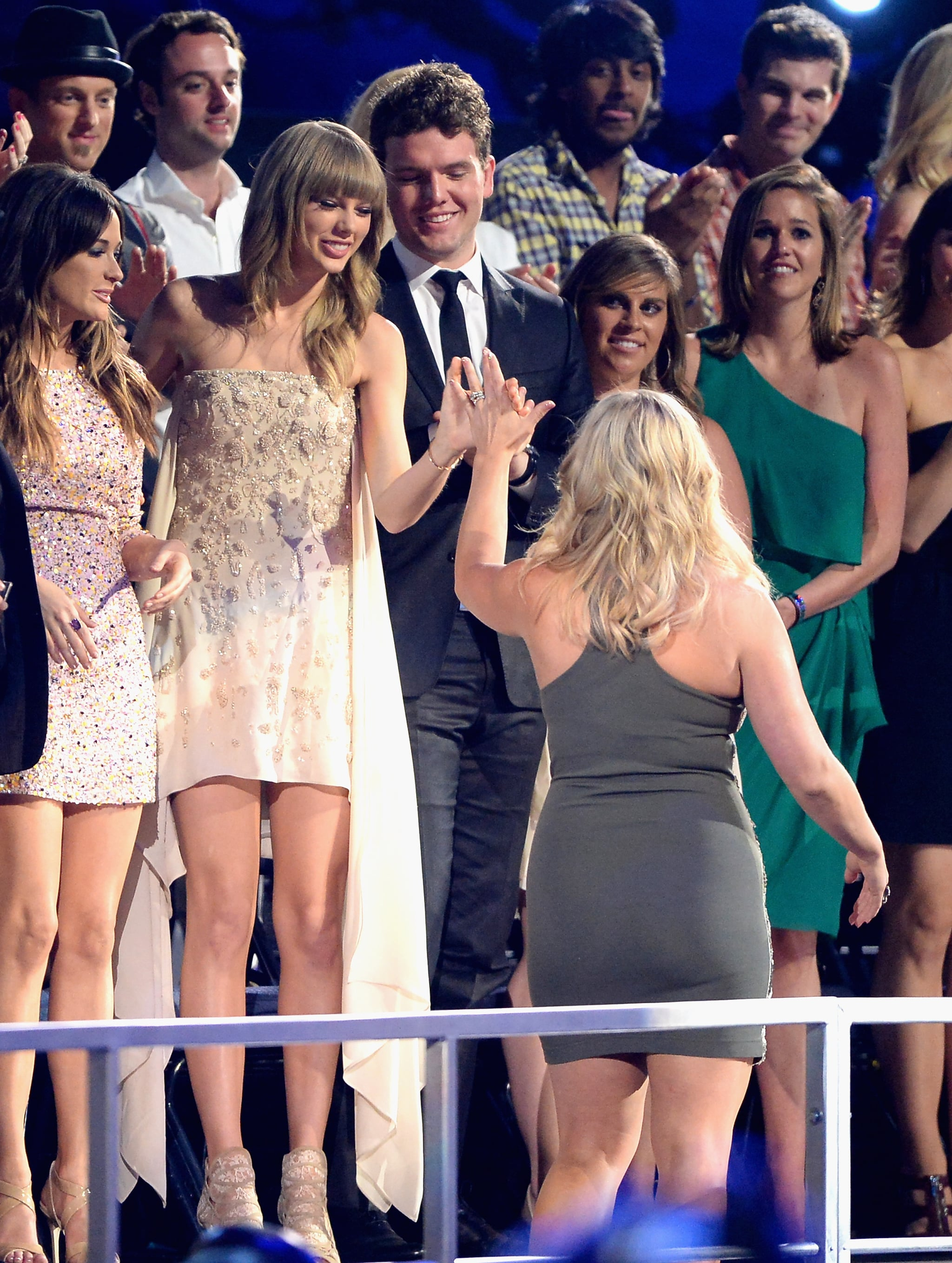 Taylor Swift High Fived Miranda Lambert As She Made Her Way To The All The Action Inside The Cmt Music Awards Popsugar Celebrity Photo 22