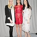 Keren Craig, Katie Holmes, and Georgina Chapman