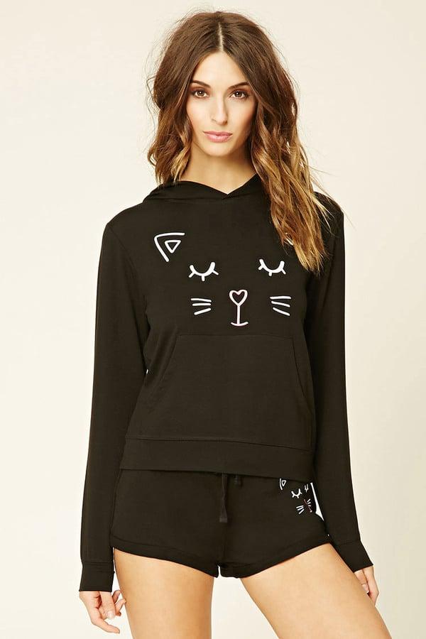 Cat face hoodie