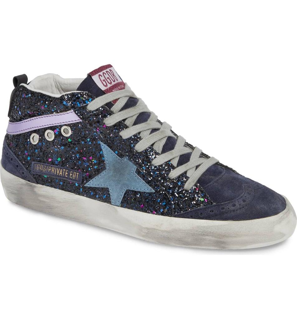df5dd4d74af7 Golden Goose Mid Star Glitter Sneaker