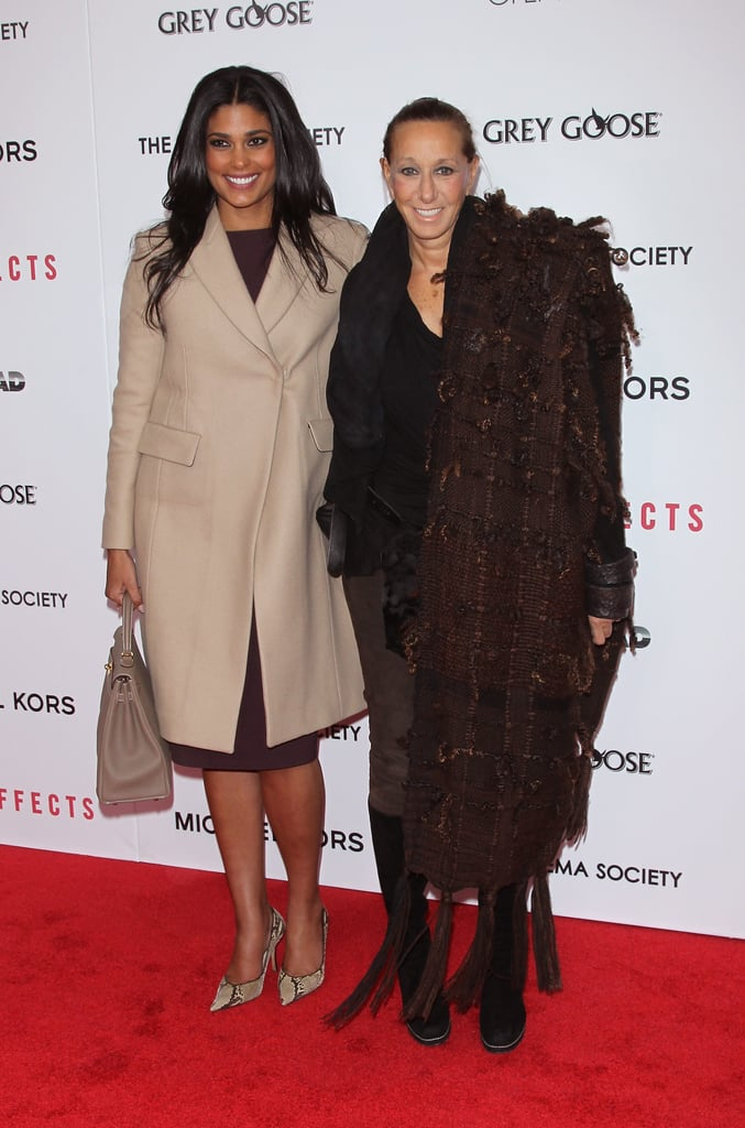Rachel Roy and Donna Karan smiled for the cameras.