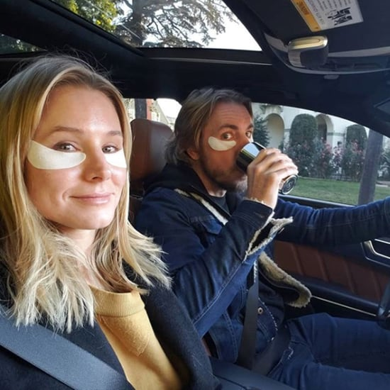 Kristen Bell and Dax Shepard Wear an Eye Mask Together