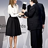 She hit the stage for the Telefonica Ability Awards in Madrid in January.