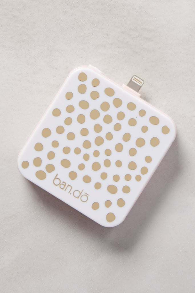 The glittery backup iPhone battery ($38) from Ban.do works with all iPhone 5 and 6 models.