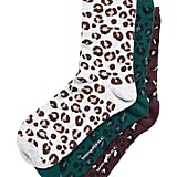 Metallic Leopard Crew Sock 3-Pack