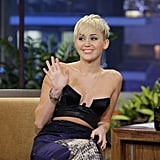 Miley Cyrus visted The Tonight Show.