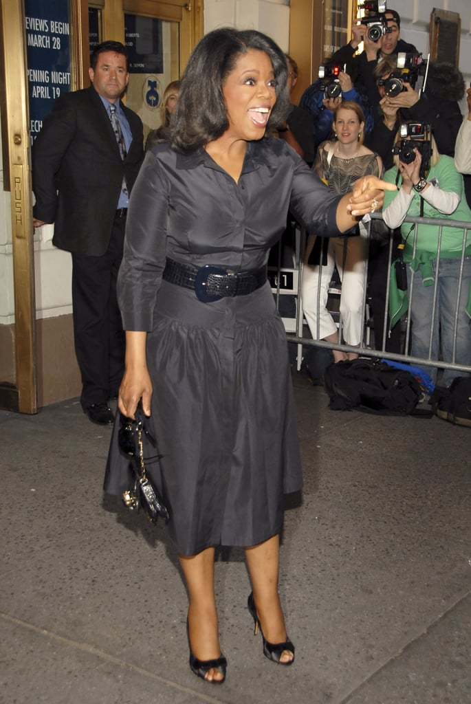 Oprah enjoyed herself at the opening night for the Broadway show Three Days of Rain in 2006.
